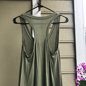 Army Green Soft Racerback Vintage Wash Tank Top SM
